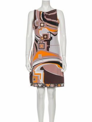 Emilio Pucci Printed Mini Dress Grey
