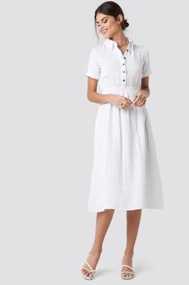 NA-KD Light Cotton Midi Dress