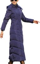 Femirah Women's Winter Coat Maxi Long Down Jacket with Hood