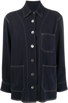 Alberto Biani Pointed Collar Shirt