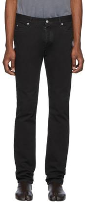 Maison Margiela Black Denim Garment-Dyed Slim-Fit Jeans
