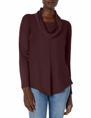 Amy Byer Women's Cowl Neck Pullover Sweater