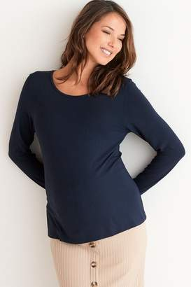 Next Womens Navy Maternity Long Sleeve Top - Blue
