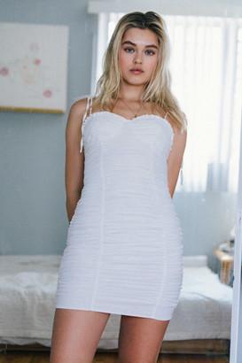Tiger Mist Jayce Ruched Mini Dress
