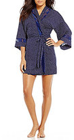 In Bloom by Jonquil Night Sky Lace-Trimmed Dotted Wrap Robe