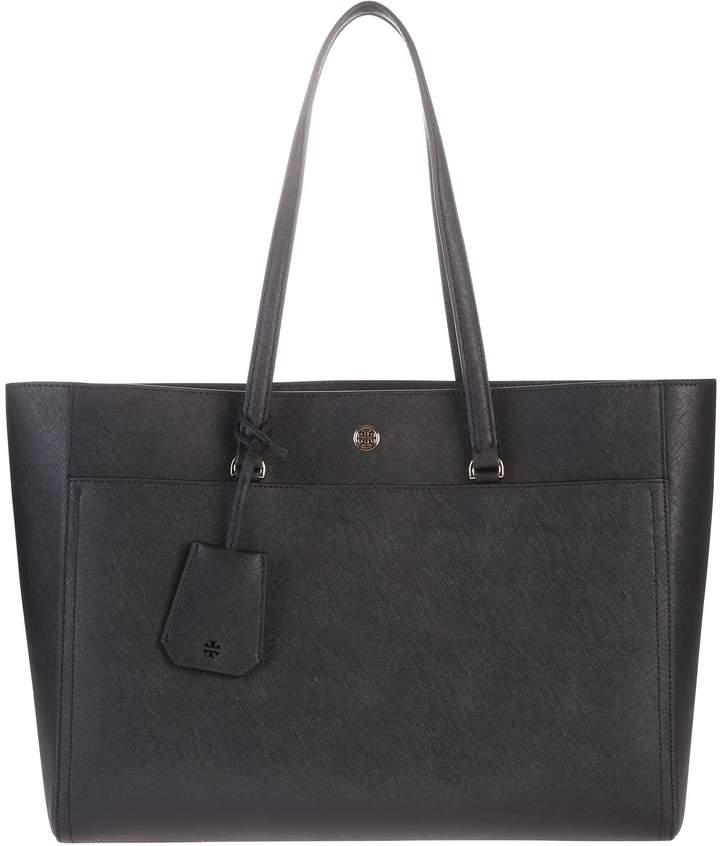 Tory Burch Black Large Robinson Bag
