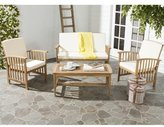 Safavieh Rocklin 4 Piece Seating Group with Cushions