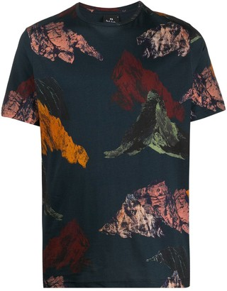 Paul Smith abstract-print crew neck T-Shirt