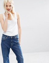 Monki Button Down Tank Top