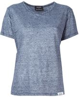 Anthony Vaccarello striped T-shirt - women - Linen/Flax - 36