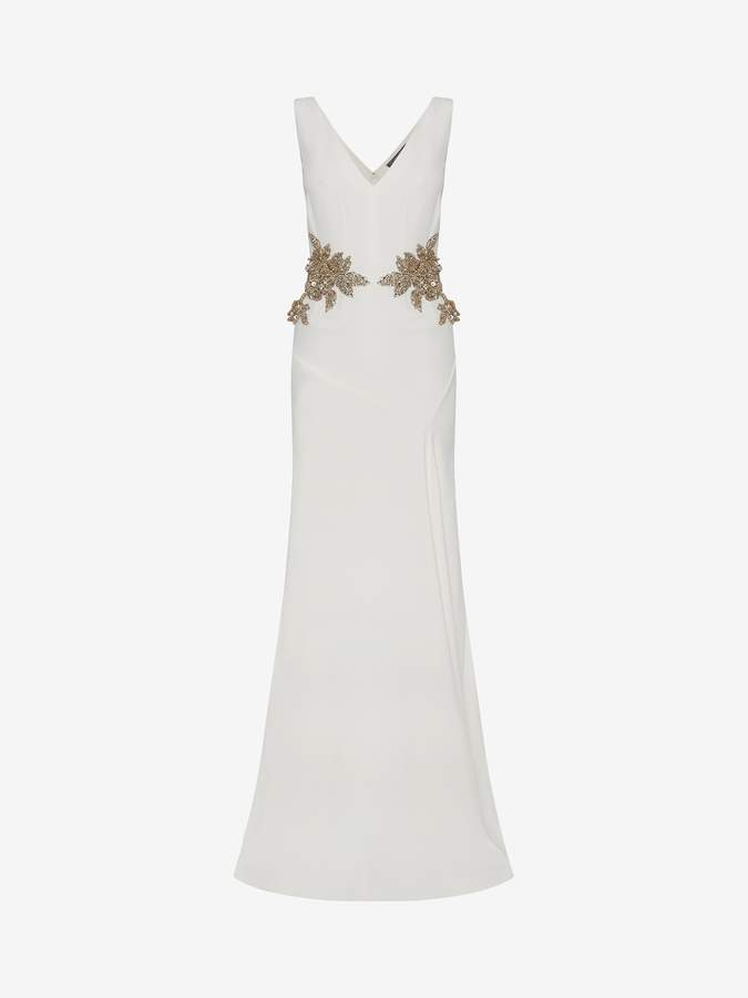 Alexander McQueen Embroidered Evening Dress