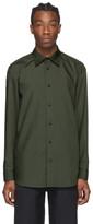 Issey Miyake Khaki Pleated Shirt