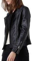 MANGO Zipped Leather Jacket