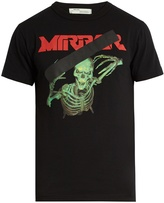 Off-White Skull Mirror-print cotton-jersey T-shirt