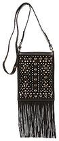 Lucky Brand Colima Studded Fringed Cross-Body Bag