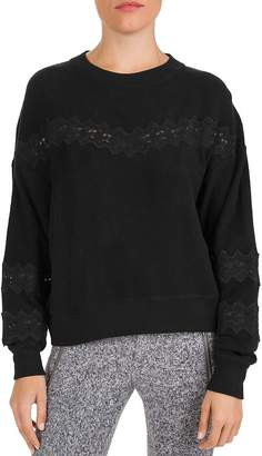 The Kooples Sweet Fleece Lace-Inset Sweatshirt