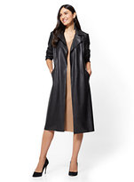 New York & Co. Faux-Leather Trench Coat