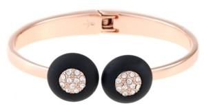 Trifari 12K Rose Gold-Plated Hinged Cuff Bracelet