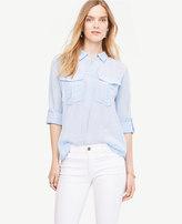Ann Taylor Home Tops + Blouses Shimmer Safari Button Down Shirt Shimmer Safari Button Down Shirt