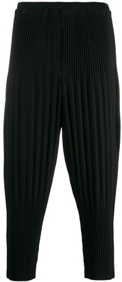 Issey Miyake Homme Plissé cropped pleated trousers