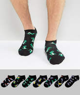 Asos Sneaker Socks With Dino In Space Design 7 Pack
