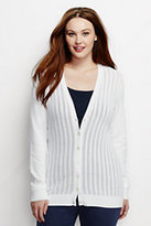 Classic Women's Plus Size Mixed Stitch Cardigan Sweater-Bright Citrus