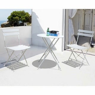Overstock 3-piece Outdoor Bistro Set Folding Table and Chairs