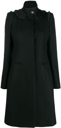 Just Cavalli fitted coat with frill trim