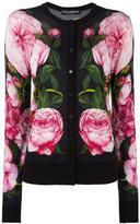 Dolce & Gabbana rose print cardigan - women - Silk/Cotton/Cashmere - 42
