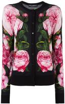 Dolce & Gabbana rose print cardigan - women - Silk/Cotton/Cashmere - 46