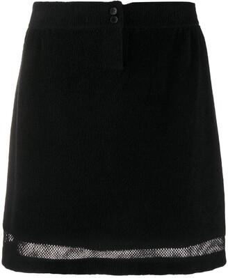 Barrie Terrycloth Mesh Insert Skirt