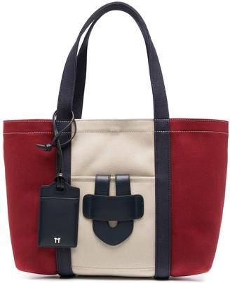 Tila March Canvas Colour-Block Tote Bag