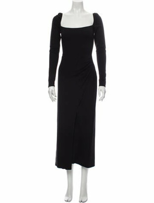 Reformation Square Neckline Long Dress w/ Tags Black