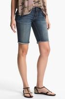 Vigoss 'New York' Cutoff Denim Bermuda Shorts (Juniors)