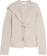See by Chloe Hooded Chunky-knit Cardigan - Light gray