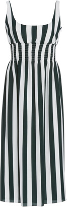 Emilia Wickstead Giovanna Striped Stretch-Crepe Midi Dress