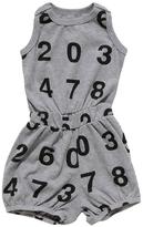 Nununu Short Grey Numbers Romper