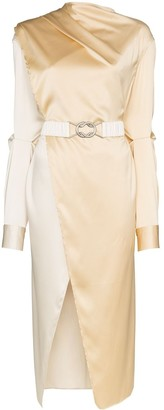Bottega Veneta Draped Belted Midi-Dress