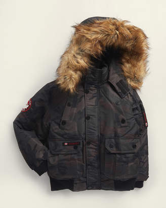 Canada Weather Gear Boys 8-20) Faux Fur-Trimmed Hooded Bomber Coat