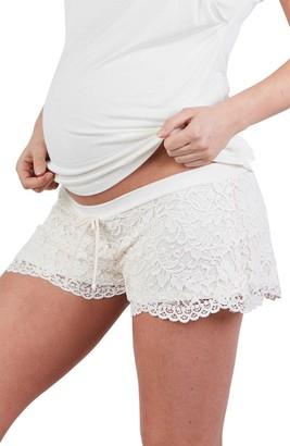 Cache Coeur Sofia Lace Maternity Pajama Shorts