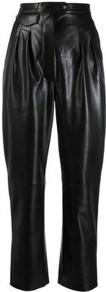 Nanushka vegan leather high waisted trousers