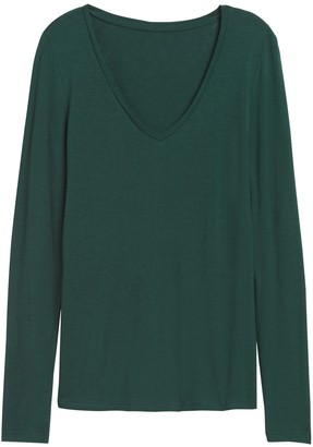 Banana Republic Rayon-Wool V-Neck T-Shirt
