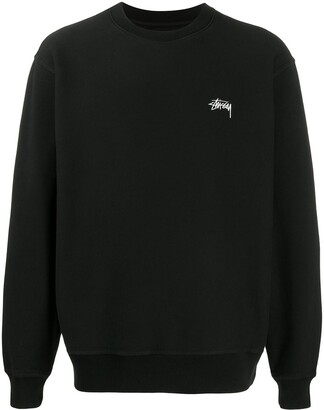 Stussy Logo-Embroidered Sweatshirt
