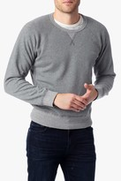 7 For All Mankind Paneled Crewneck Sweatshirt In Heather Grey