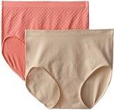 Ellen Tracy Women's Dot Jacquard Full Brief Panty 2 Pack