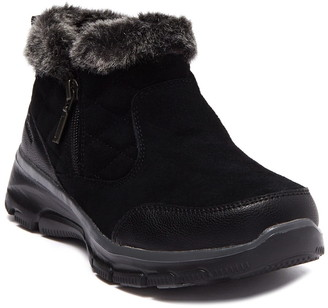 Skechers Easy Going Girl Crush Faux Fur Cuff Ankle Boot