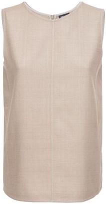 Giorgio Armani Sleeveless Silk Canvas Top