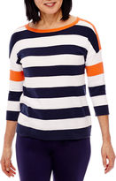 Sag Harbor 3/4 Sleeve Pullover Sweater
