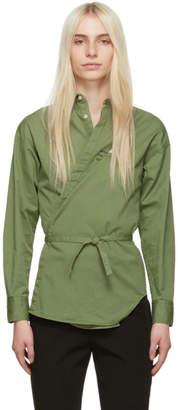 DSQUARED2 Green Twill Wrap Dress