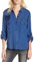Rails Women's Banks Military Patch Shirt